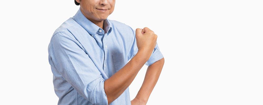 包茎治療に踏み切った中高年男性のイメージ
