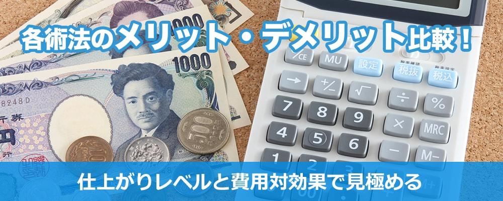 包茎治療の料金を説明する電卓とお金