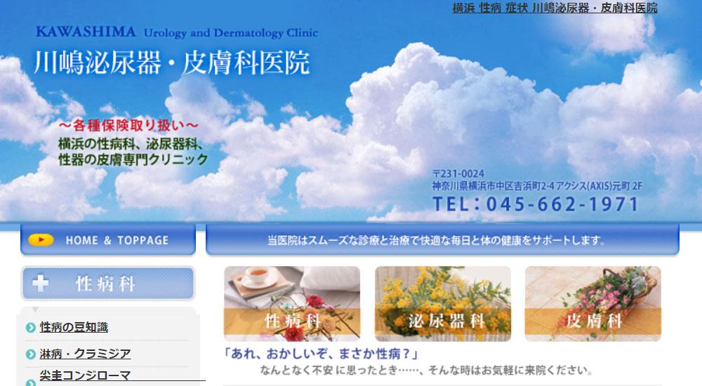 川嶋泌尿器・皮膚科医院のスクリーンショット画像