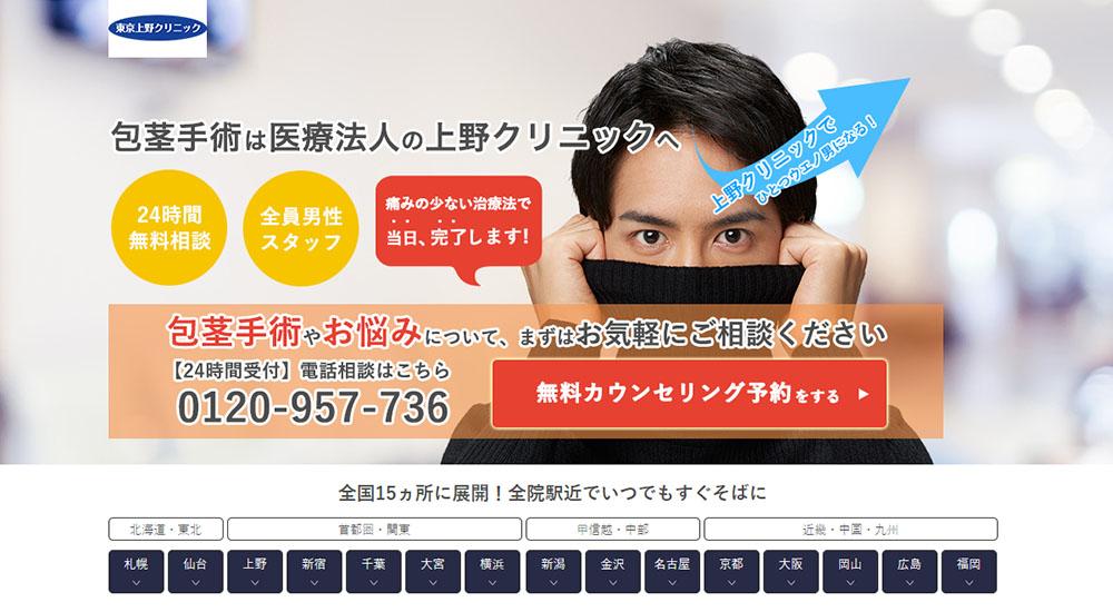 上野クリニックのスクリーンショット画像